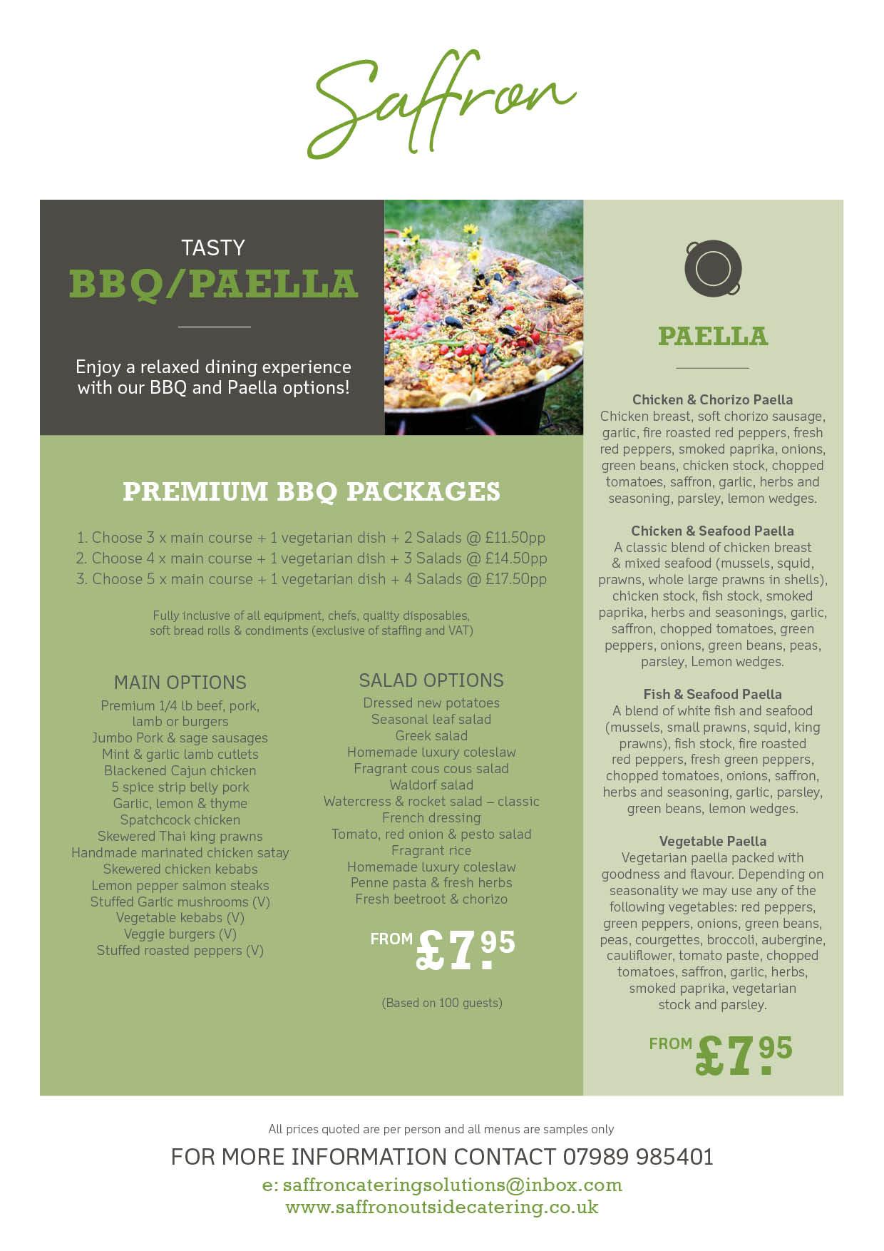 bbq paella - Paella Catering Nottingham