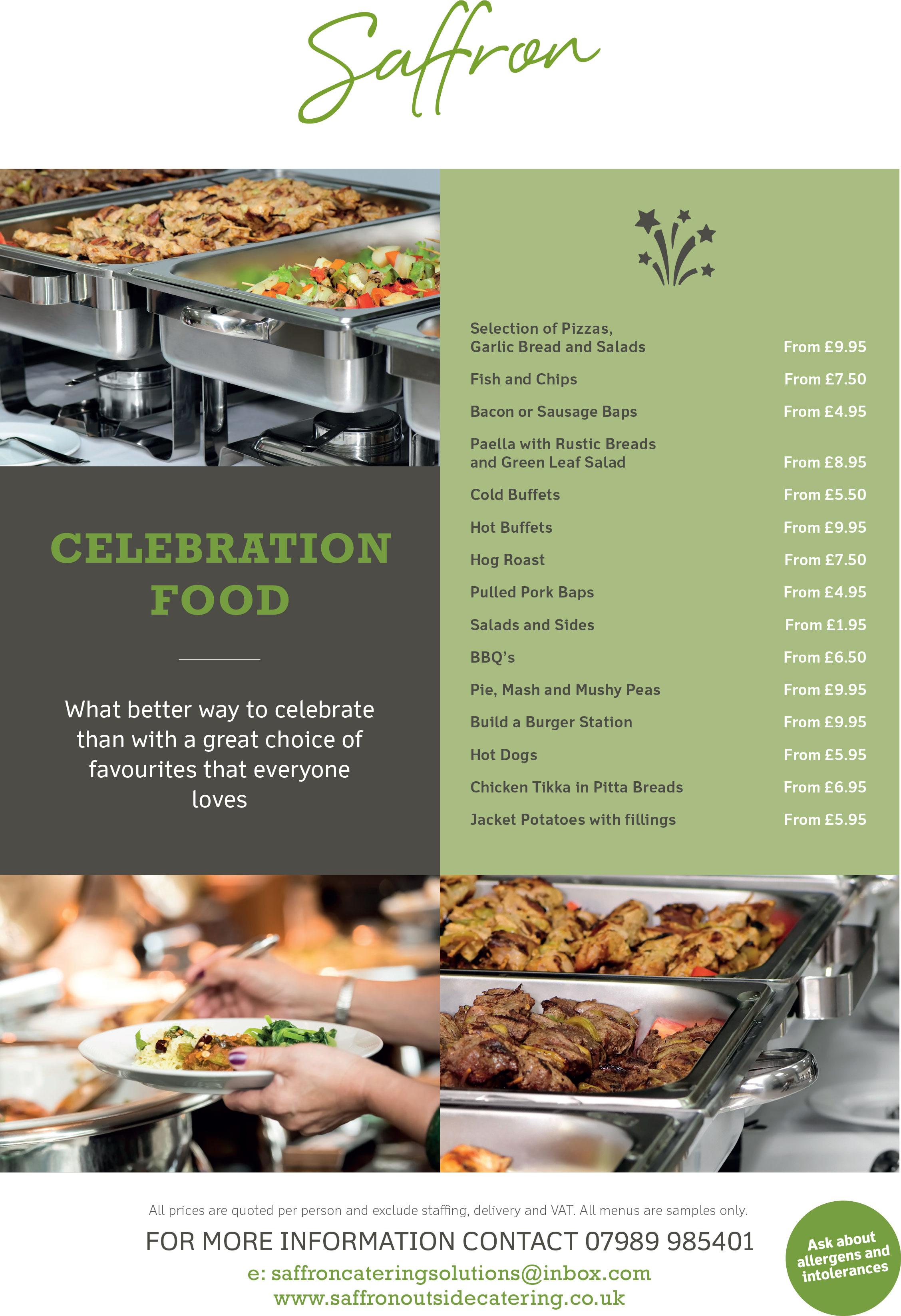Celebration Food Menu