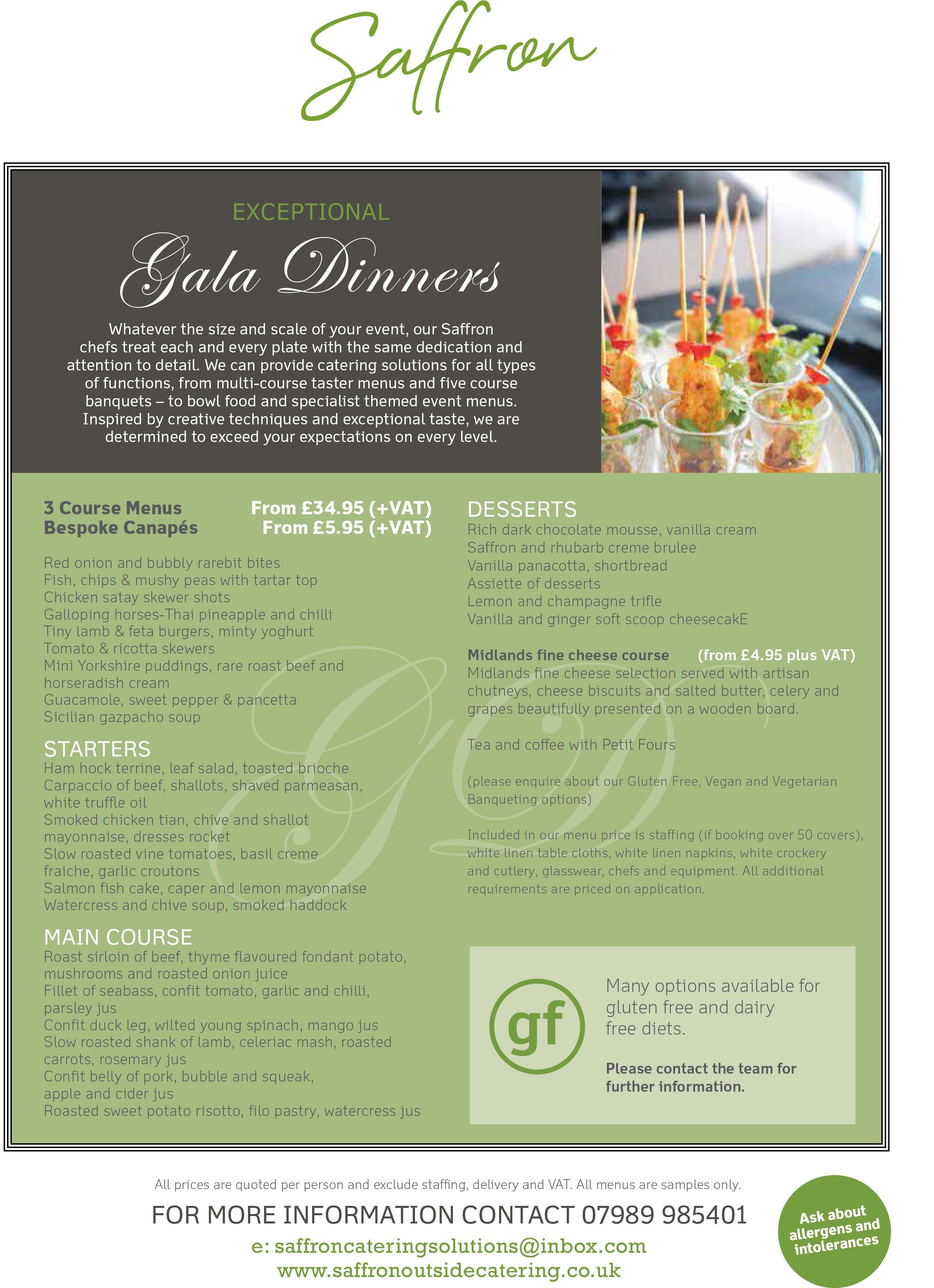 Gala Dinner Menu