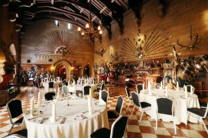 Warwick Castle Standard Set up 300x200 - Catering in Castles!