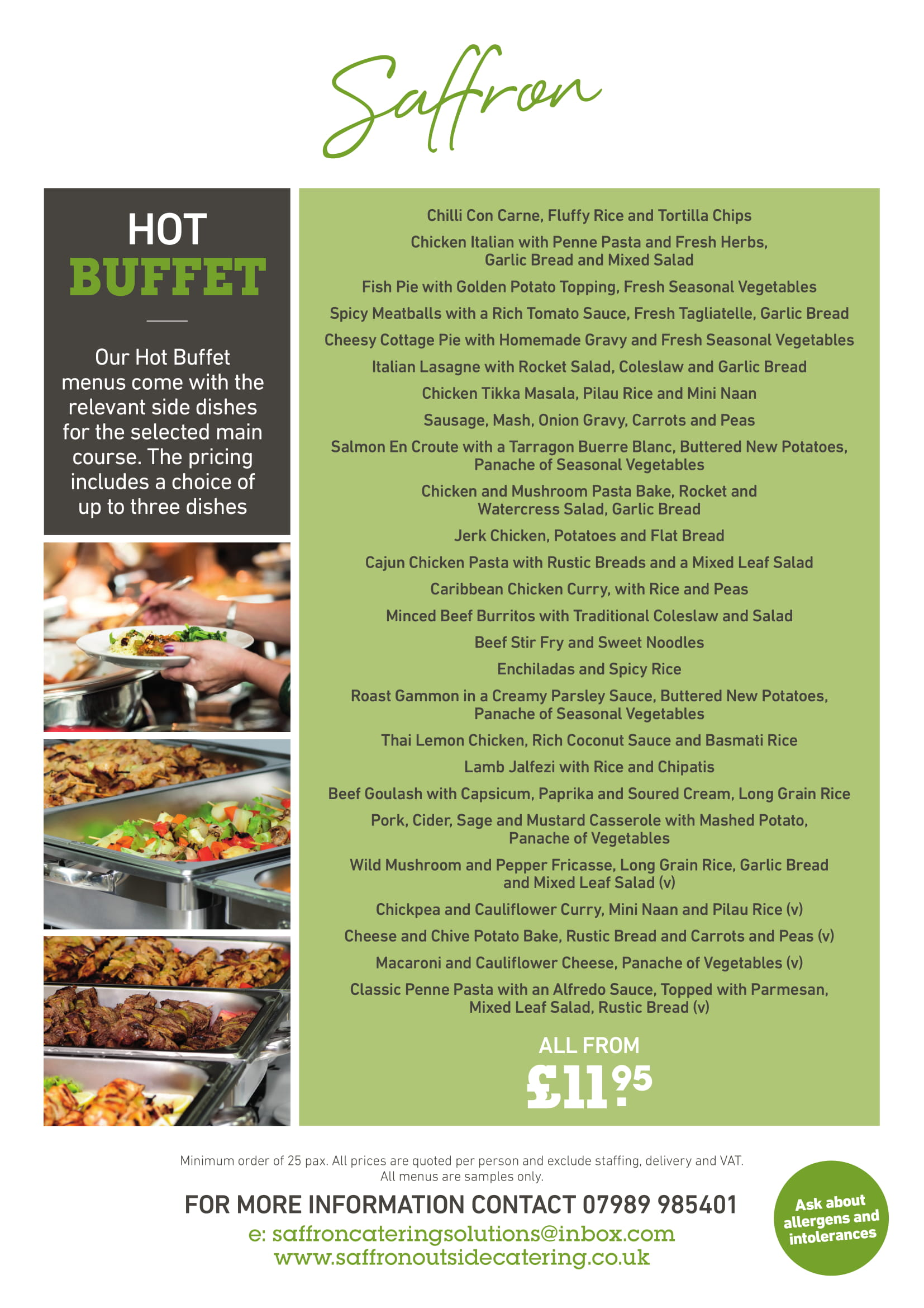 HOT BUFFET 1 - Hot Buffet Menu